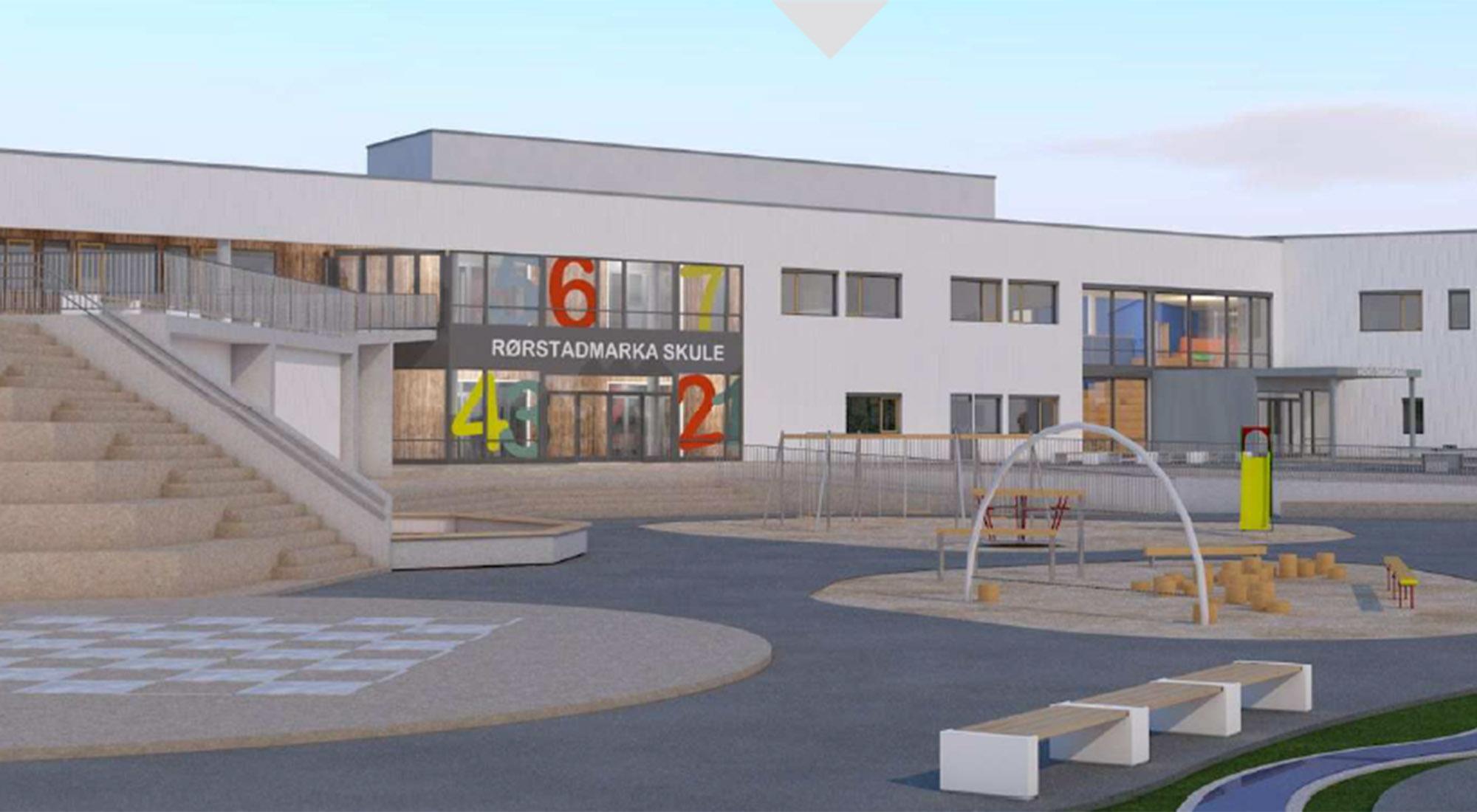 HENT bygger Rørstadmarka skole og flerbrukshall for Sula kommune
